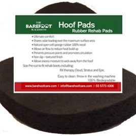 Rehab pads heavy duty closed cell natural rubber 20 mm (pair) Sizes 000 to 2