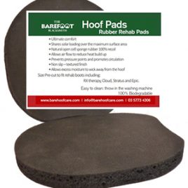 Rehab pads standard closed cell natural rubber – 12 mm (pair) Sizes 3 to 6